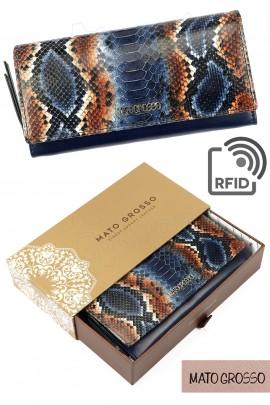 MATO GROSSO 0743-71 RFID синий кошелёк жен.