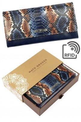 MATO GROSSO 0998-71 RFID синий кошелёк жен.