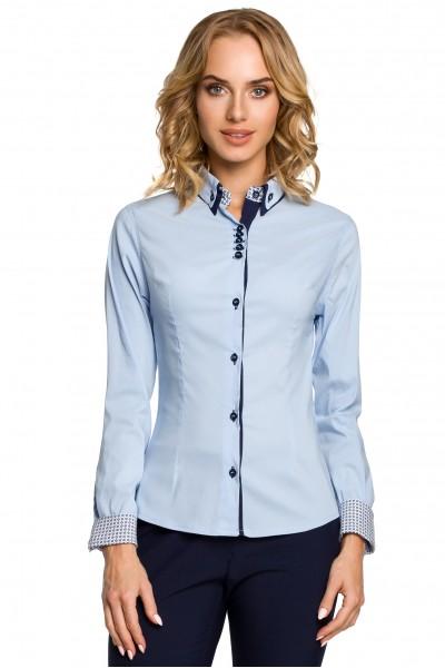 Рубашка MOE 067 приталенная вискоза