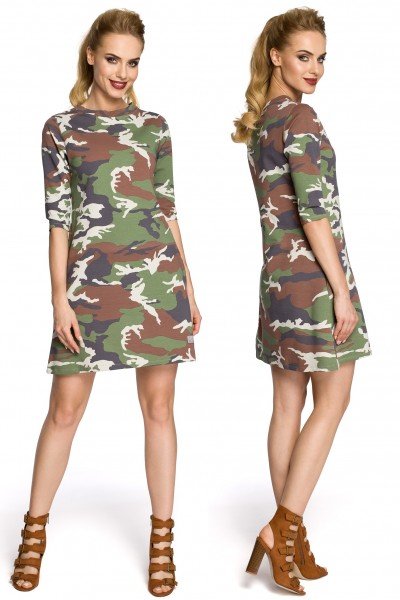 Платье MOE 236 с карманами