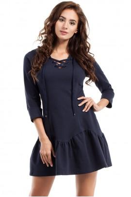 Платье MOE 244 тёмно-синий