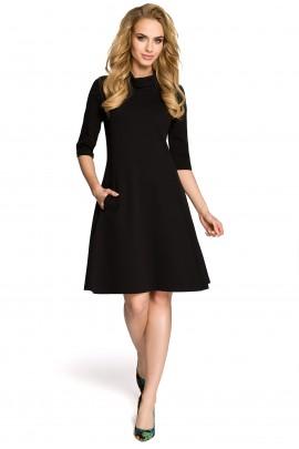 Платье MOE 279 casual с карманами чёрный