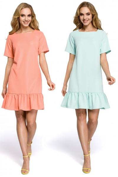Платье MOE 282 с оборкой