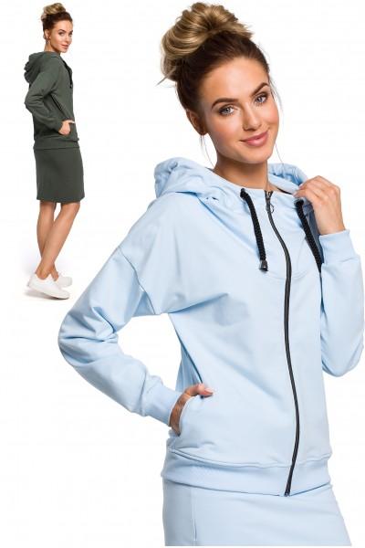 Блуза MOE 420 casual хлопок с капюшоном