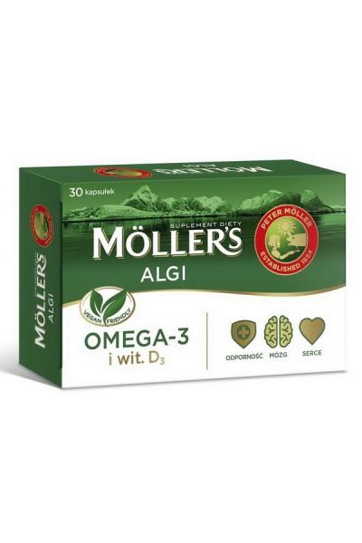 Moller's водоросли - OMEGA-3 для веганов - 30 капсул