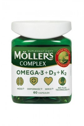 MOLLER'S Complex Omega-3+D3+K2 - 60 капсул