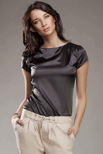 Блузка NIFE B15 серый