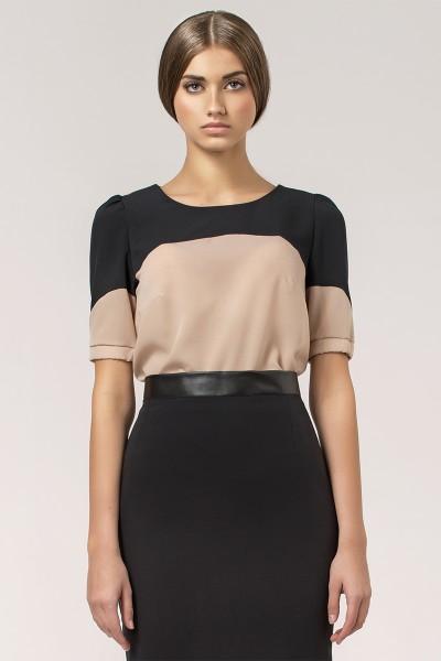 Блузка NIFE B25 беж-чёрный