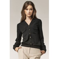 Блузка NIFE B31 чёрный