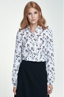 Блузка NIFE B70 экрю-цветы