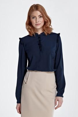 Блузка NIFE b78 тёмно-синий