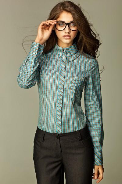 Рубашка NIFE K37 бирюза