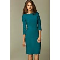 Платье NIFE S30 лазурь с фигурной горловиной