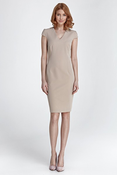 Платье NIFE S85 беж