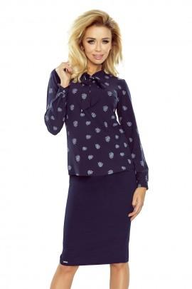 Блузка NUMOCO 140-6 тёмно-синий