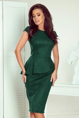 Платье NUMOCO 192-10 бутылочное стекло замш