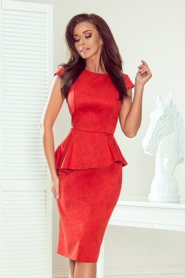 Платье NUMOCO 192-10 красный замш