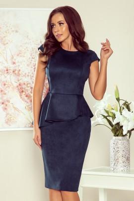Платье NUMOCO 192-9 тёмно-синий замш