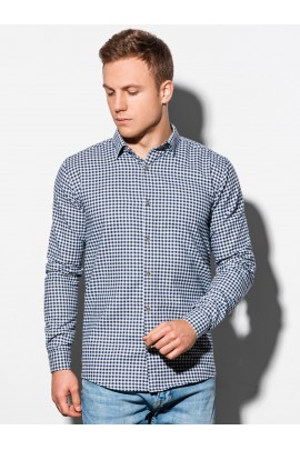 Рубашка OMBRE K563-biala/granatowa