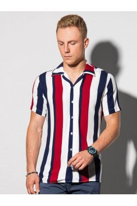 Рубашка OMBRE K575-biala/granatowa