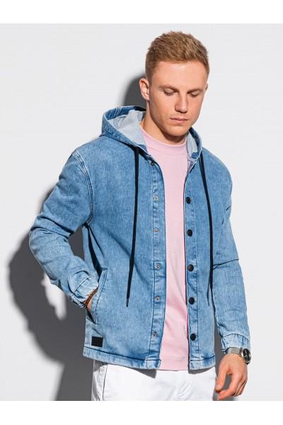 Куртка OMBRE джинсовая C477-jasnoniebieska