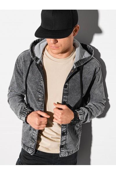 Куртка OMBRE джинсовая C477-szara
