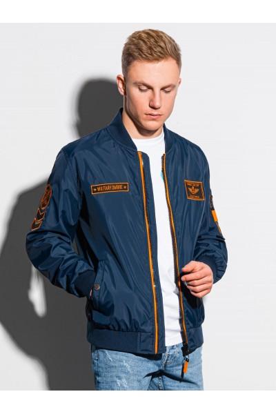 Куртка OMBRE демисезон C485-granatowa