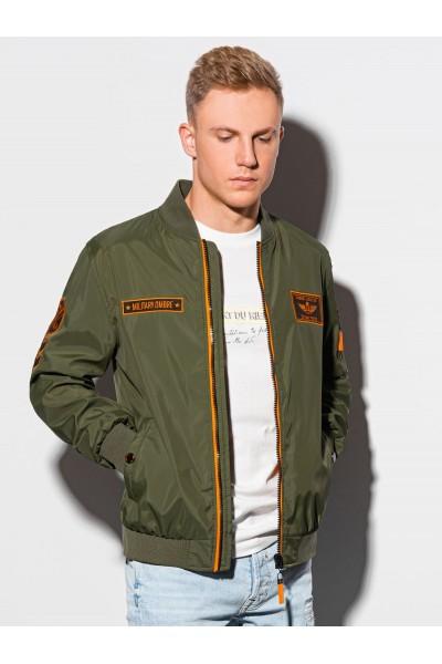 Куртка OMBRE демисезон C485-oliwkowa