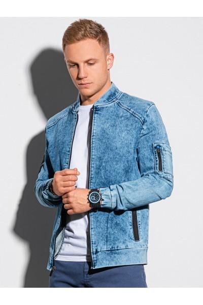 Куртка OMBRE демисезон C240-jasnoniebieska