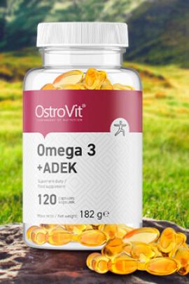 OstroVit Omega 3 + ADEK 120 caps