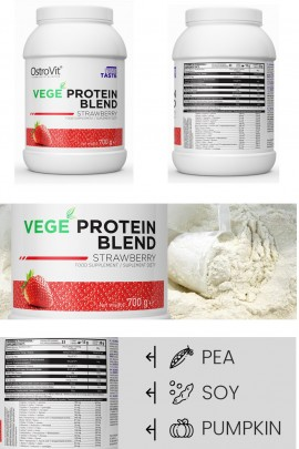 OstroVit VEGE Protein Blend 700g - протеин - вкус клубника