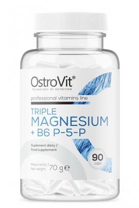 OstroVit Triple Magnesium + B6 P-5-P 90 kaps MSK