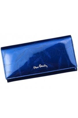 Pierre Cardin 02 LEAF 100 синий кошелёк жен.