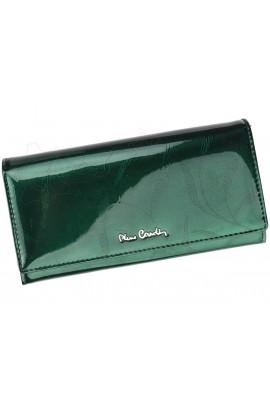 Pierre Cardin 02 LEAF 100 зелёный кошелёк жен.