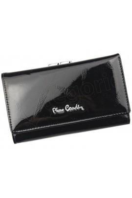Pierre Cardin 02 LEAF 108 чёрный кошелёк жен.