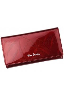 Pierre Cardin 02 LEAF 114 красный кошелёк жен.