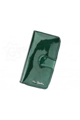 Pierre Cardin 02 LEAF 116 зелёный кошелёк жен.