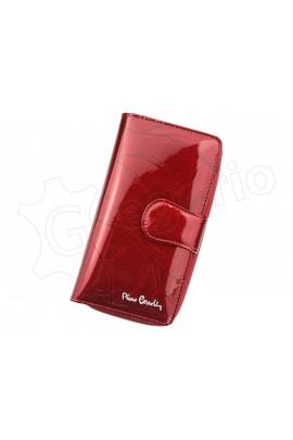Pierre Cardin 02 LEAF 116 красный кошелёк жен.