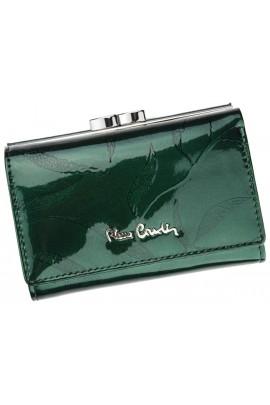 Pierre Cardin 02 LEAF 117 зелёный кошелёк жен.