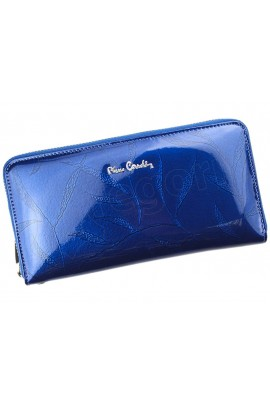 Pierre Cardin 02 LEAF 119 синий кошелёк жен.