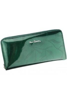 Pierre Cardin 02 LEAF 119 зелёный кошелёк жен.