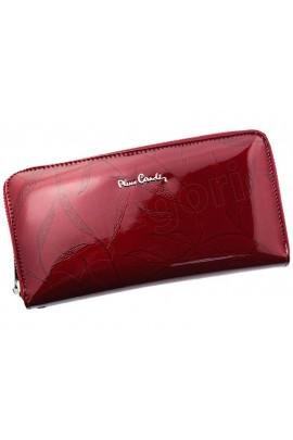 Pierre Cardin 02 LEAF 119 красный кошелёк жен.
