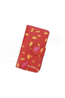 Pierre Cardin 04 PLANT 116 красный кошелёк жен.