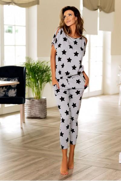 Пижама PIGEON P-576/1 чёрные звёздочки