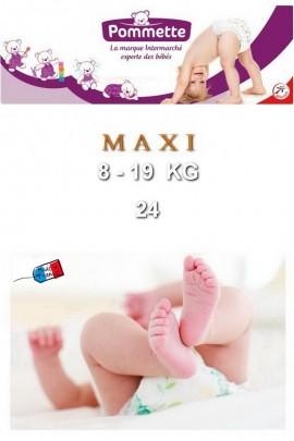 Подгузники Pommette PMT-MAXI 8-19 кг - 24 шт/уп