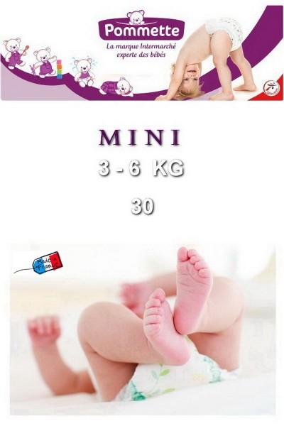 Подгузники Pommette PMT-MINI 3-6 кг - 30 шт/уп