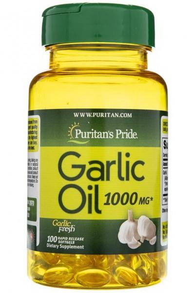 Масло чеснока Puritan's Pride 1000 мг - 100 капсул