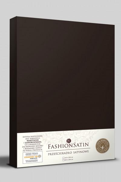 Простыня Senlandia SATIN 160х200 темный шоколад