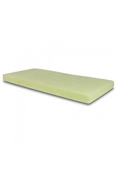 Простыня Senlandia FROTTE на резинке 160х200 зеленый