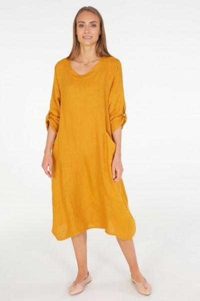 Платье Unisono 34-2050 MUSTARD